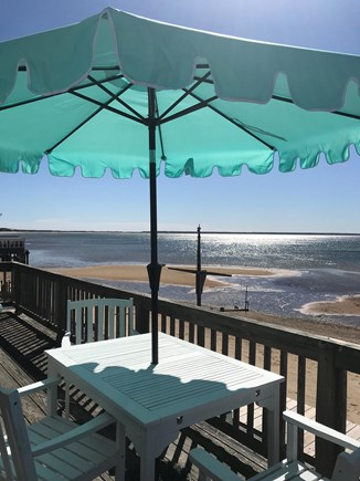 Provincetown Cape Cod vacation rental - Your private deck view to the left.