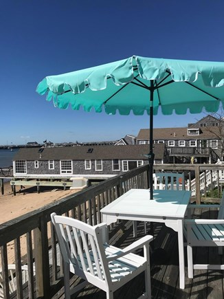 Provincetown Cape Cod vacation rental - Private deck. View to the right.