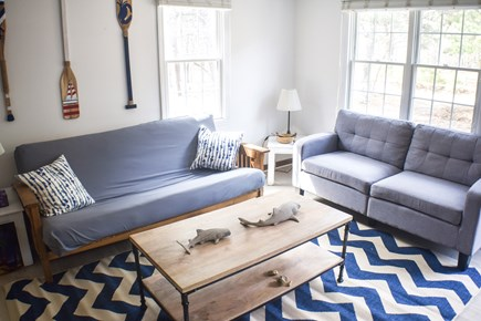 Eastham Cape Cod vacation rental - Living room with full sleeper sofa
