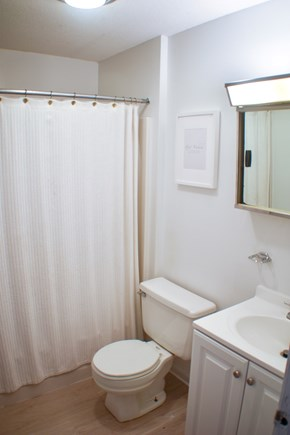 Eastham Cape Cod vacation rental - Main bathroom (shower and tub) 1 of 3 in the cape house