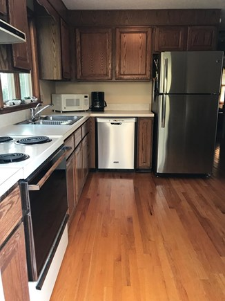 Eastham, near town green, wind Cape Cod vacation rental - Kitchen with new stainless dishwasher and fridge