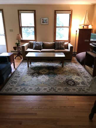 Eastham, near town green, wind Cape Cod vacation rental - Living room area with A/C