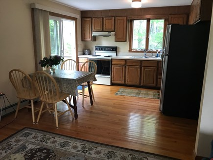 Eastham, near town green, wind Cape Cod vacation rental - Open floor plan. Dining table expands to seat six