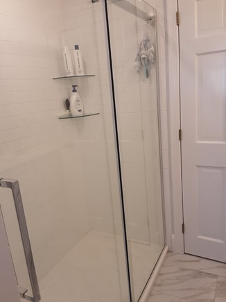 West Yarmouth Cape Cod vacation rental - NEWLY installed Glassed in Shower in main bathroom