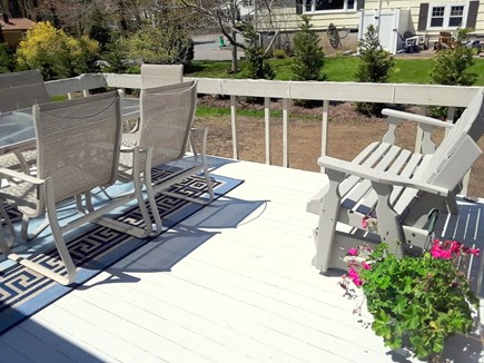 West Yarmouth Cape Cod vacation rental - SUNNY back Deck with Seating and Gas Grill