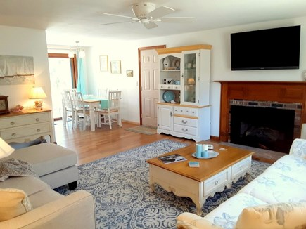West Yarmouth Cape Cod vacation rental - Living Room opens to Dining Room