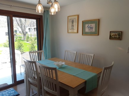West Yarmouth Cape Cod vacation rental - Dining Room with Slider to SUNDECK