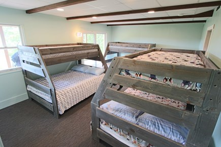 Wellfleet Cape Cod vacation rental - Bedroom #4 with 3 bunks (Doubles on bottom, twins on top)