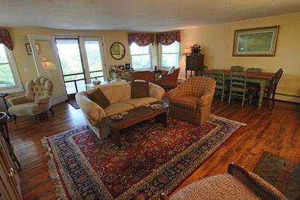 Provincetown Cape Cod vacation rental - Another View of Living Room with Dining Table