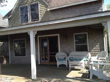 Provincetown Cape Cod vacation rental - Front porch with water views of Cape Cod Bay