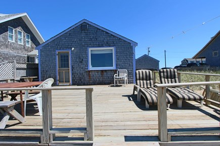North Truro Cape Cod vacation rental - Front of the cottage and deck