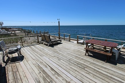 North Truro Cape Cod vacation rental - Another view of the private deck