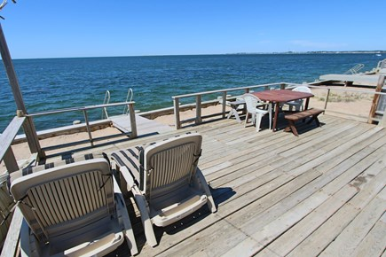 North Truro Cape Cod vacation rental - Private deck with view of Cape Cod Bay