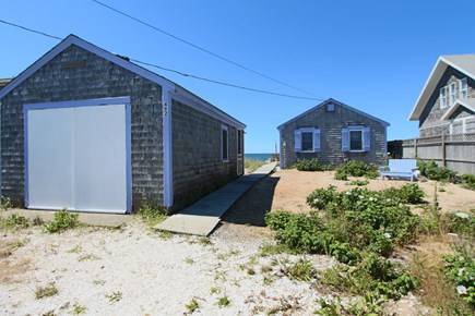 North Truro Cape Cod vacation rental - View of Cottage from the Driveway - Garage is locked for season