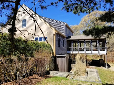 Wellfleet Cape Cod vacation rental - Enclosed outdoor shower and large screened porch