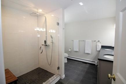 Wellfleet Cape Cod vacation rental - First floor master en suite bath with custom tiled shower