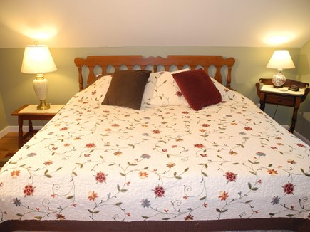 Eastham Cape Cod vacation rental - Upstairs queen bed with AC.