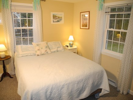 Eastham Cape Cod vacation rental - Downstairs bedroom overlooks sunny back yard.