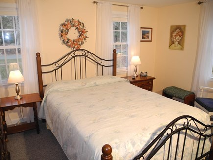 Eastham Cape Cod vacation rental - Downstairs bedroom with comfortable queen bed and AC.