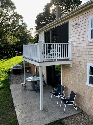 West Yarmouth Cape Cod vacation rental - Upper deck and lower patio