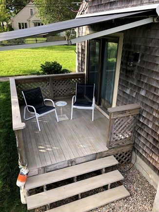 West Yarmouth Cape Cod vacation rental - Upper deck adjacent to kitchen & dining area