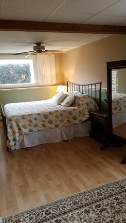 North Falmouth New Silver Beac Cape Cod vacation rental - King Bed Downstairs in huge bedroom.