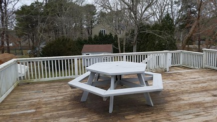 North Falmouth New Silver Beac Cape Cod vacation rental - Large deck for cookouts with family and friends.