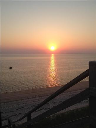 South Truro Cape Cod vacation rental - Sunset from the deck