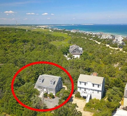East Sandwich Cape Cod vacation rental - Arial View