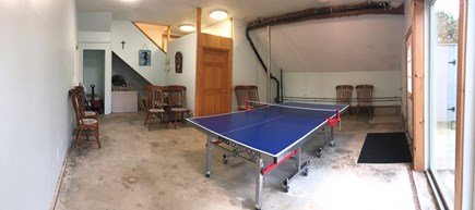 Eastham Cape Cod vacation rental - Garage Ping-Pong table tournament area!
