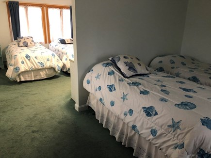 Eastham Cape Cod vacation rental - Main House- upstairs bedroom with four twin beds #2