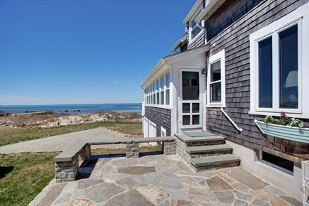 North Falmouth, Megansett Cape Cod vacation rental - Entrance to the home and the stone patio.
