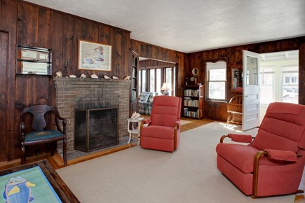 North Falmouth, Megansett Cape Cod vacation rental - The living room with plenty of seating and flat screen TV.