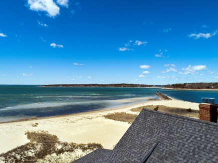 North Falmouth, Megansett Cape Cod vacation rental - Aerial view of private beach above the home.