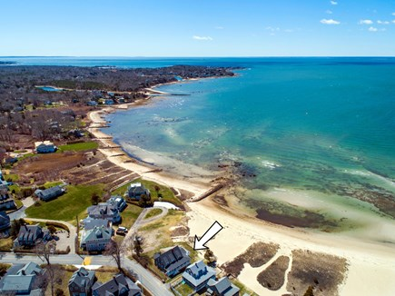 North Falmouth, Megansett Cape Cod vacation rental - Another aerial view looking toward North Falmouth/Old Silver.