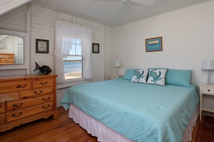 North Falmouth, Megansett Cape Cod vacation rental - The Sea Life Room with a king bed and beautiful views.