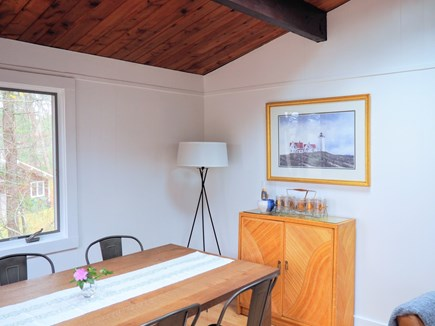 Indian Neck, Wellfleet Cape Cod vacation rental - The dining table can seat up to 8.