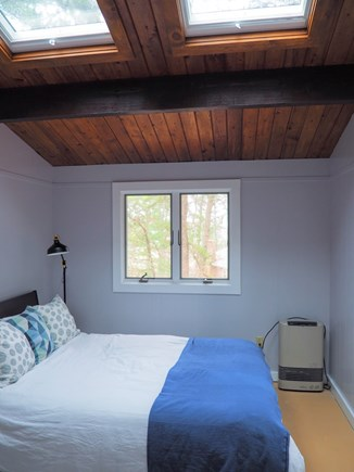 Indian Neck, Wellfleet Cape Cod vacation rental - One of the two bedrooms with a queen bed and skylights.