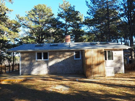 Indian Neck, Wellfleet Cape Cod vacation rental - The cottage from the side yard.