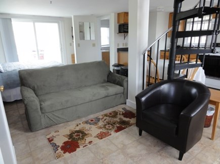 Wellfleet Cape Cod vacation rental - Living area & spiral staircase to loft