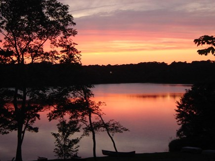 Eastham Cape Cod vacation rental - Sunset on the pond