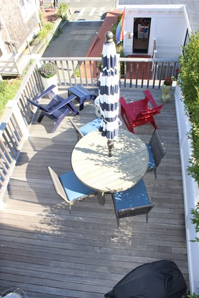 Provincetown Cape Cod vacation rental - Deck from 3rd Floor Bedroom