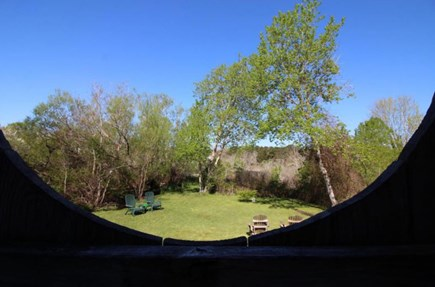 Wellfleet Cape Cod vacation rental - View from outdoor shower