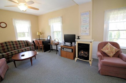 Wellfleet Cape Cod vacation rental - Living room also has gas parlor stove for those chilly nights.