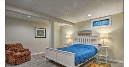Falmouth, Waquoit Cape Cod vacation rental - Basement finished room with Queen bed - memory foam