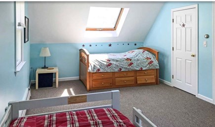 Falmouth, Waquoit Cape Cod vacation rental - Bedroom - 3 twins one regular and one trundle bed - memory foam