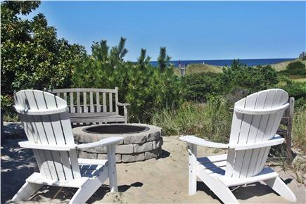 East Sandwich Cape Cod vacation rental - Fire pit overlooking the water
