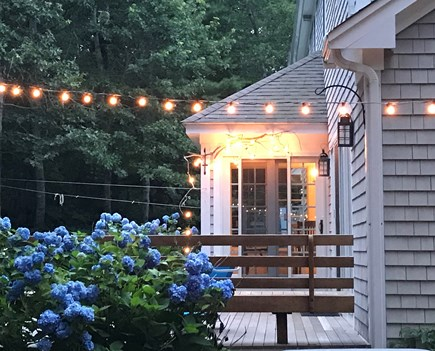 West Falmouth Cape Cod vacation rental - Deck facing wooded backyard