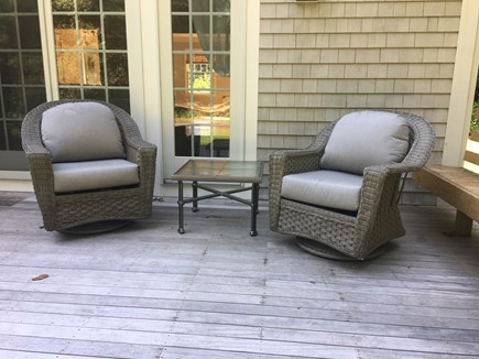 West Falmouth Cape Cod vacation rental - Large deck for relaxing/dining