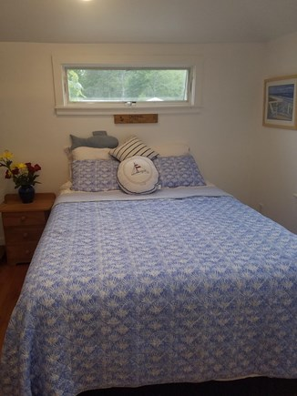 Dennis Port Cape Cod vacation rental - Bedroom with queen size hospitality foam bed, and skylight window